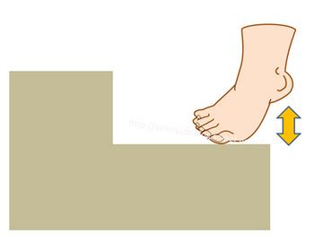 階段で足の裏を鍛えるやり方