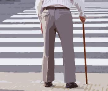 老人の歩行