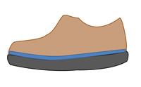 硬いインソールを敷いて足指が曲がらない靴
